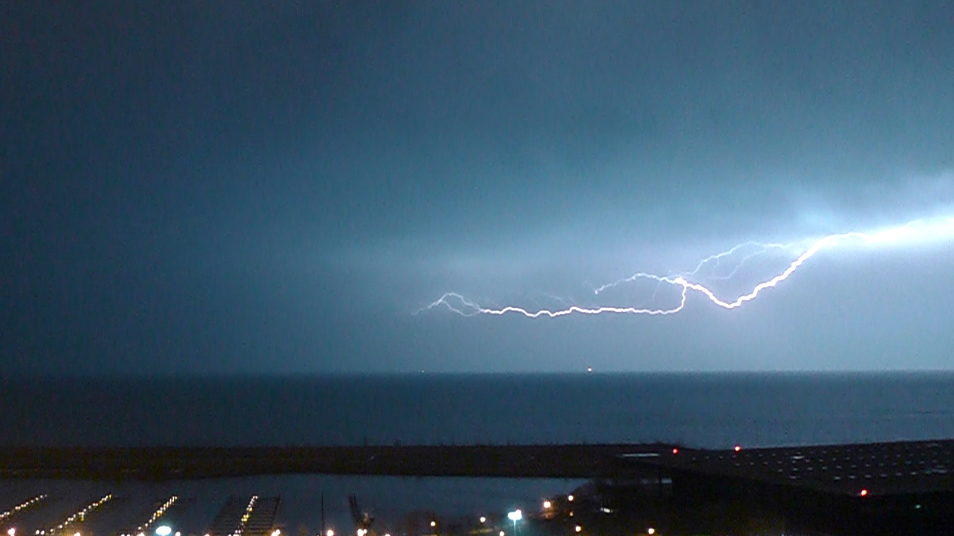 Photos From Afar Lightning Storm Over Lake Michigan