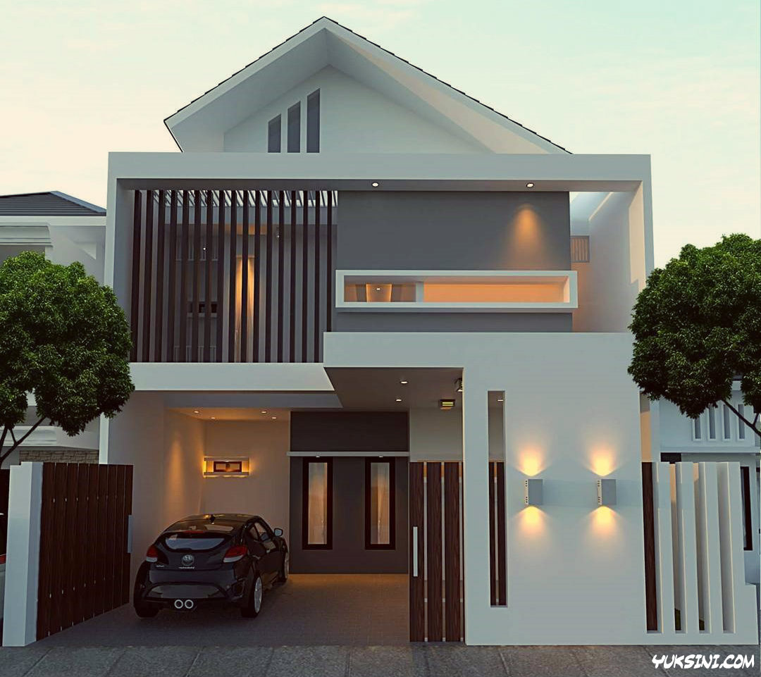 rumah minimalis type 45 dengan 2 lantai