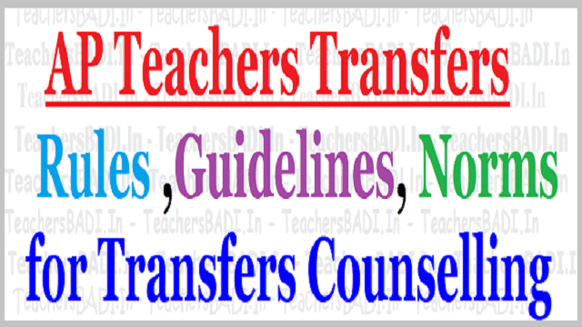 Draft AP Teachers, Head Masters Transfers Guidelines,Norms,Rules 2017
