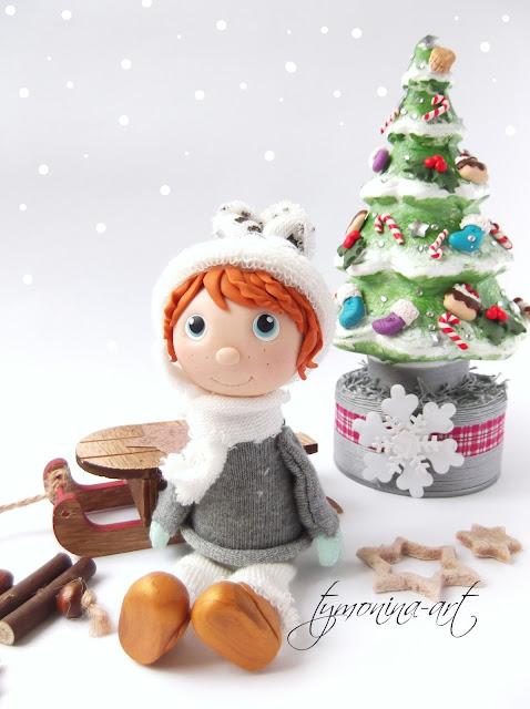 Święta i zimowa lalcia :)