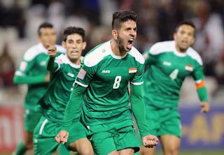 شاهد اهداف لعبة العراق وقطر Qatar vs Iraq اليوم 22-1-2019