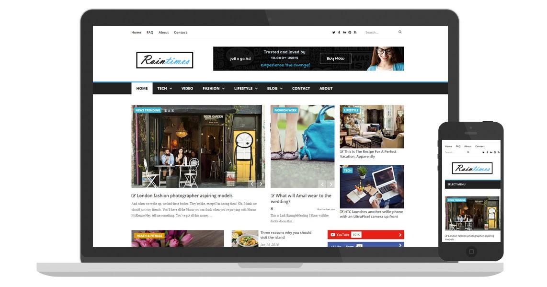 Blogger templates raintemplates free blogger templates raintimes free blogger templates news magazine blogspot template responsive pronofoot35fo Images