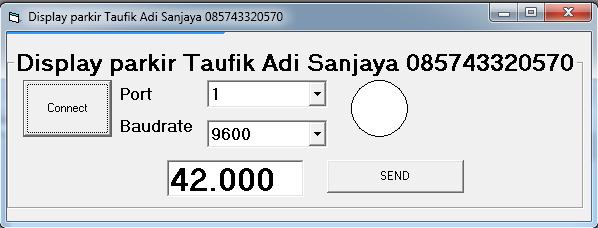 Display tarif parkir / belanja / toll / dengan dot matrix 085743320570 (taufik adi)