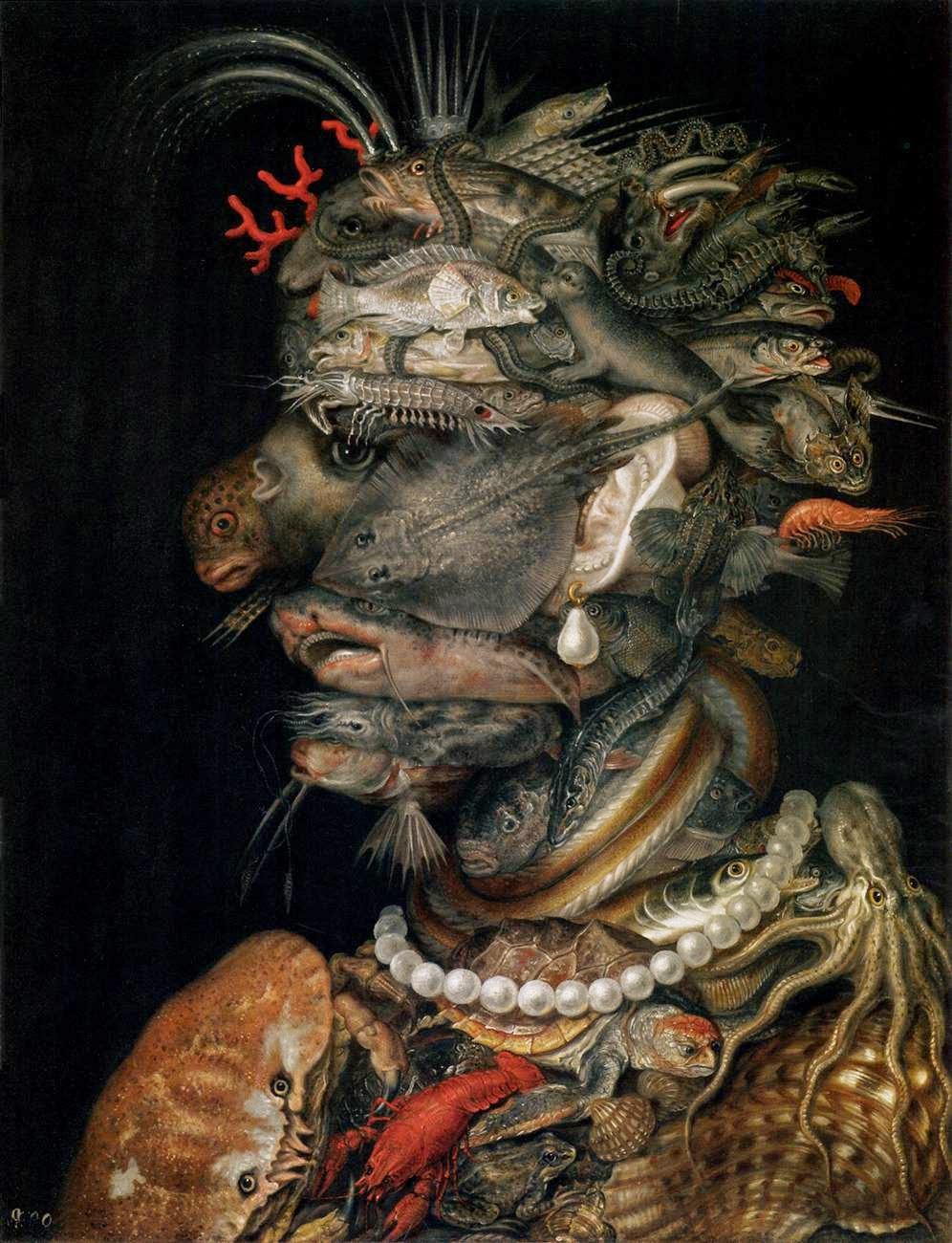 """Água - Giuseppe Arcimboldo e suas fantásticas pinturas ~ Inclui """"As Quatro Estações"""""""