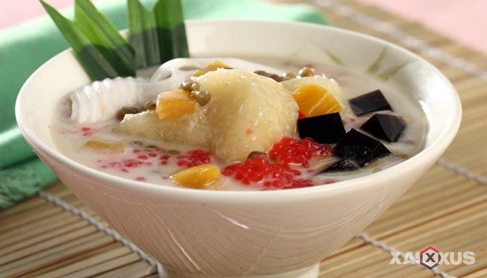 Resep cara membuat kolak singkong kelapa muda
