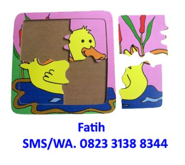 mainan anak puzzle duck