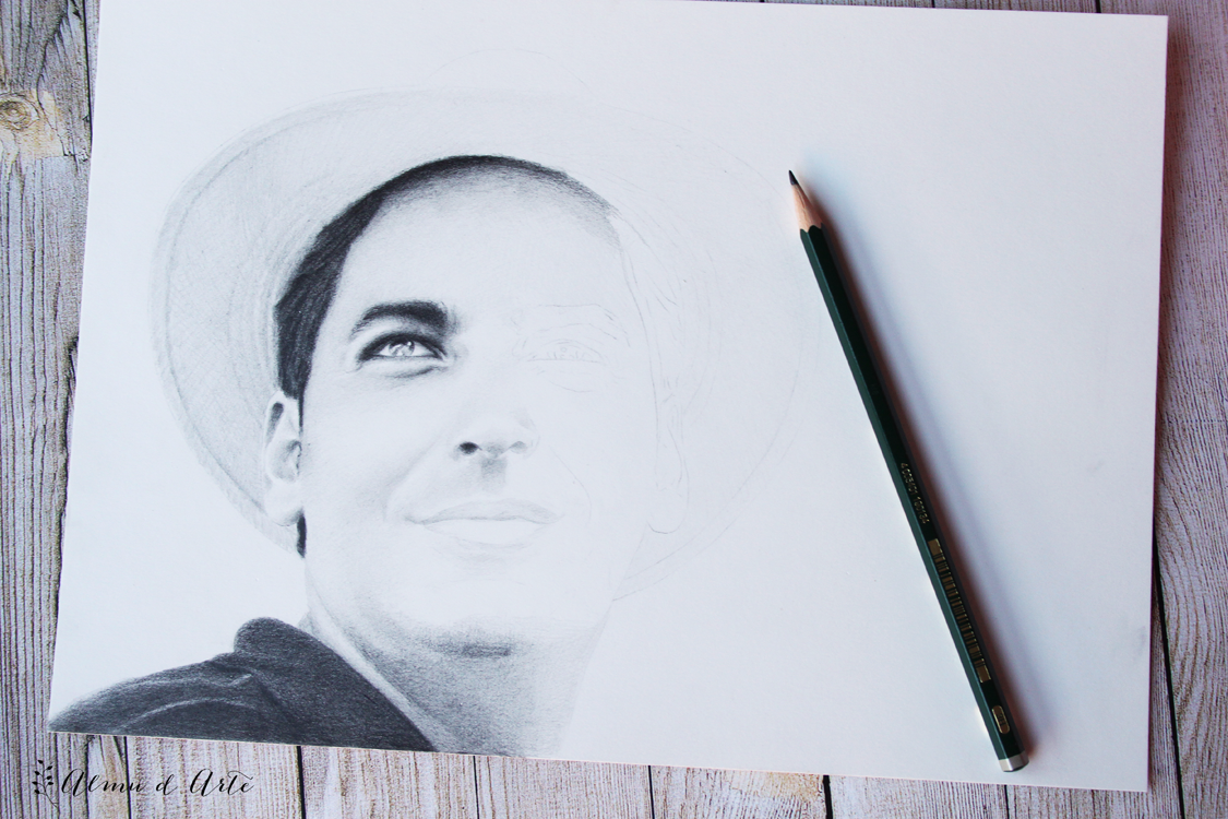 Dibujo de un rostro masculino paso a paso