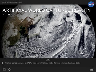 NASA iPad app helps you with Earth visualization