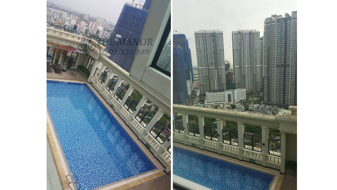 bán gấp hoặc cho thuê căn hộ The Manor 136m2 - hồ bơi the manor