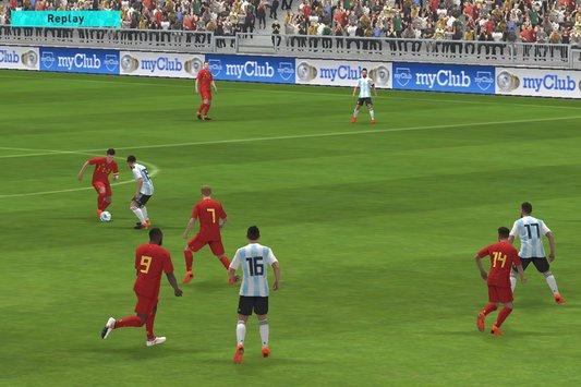 تحميل لعبة بيس pes 2018 للاندرويد تعليق عربي بحجم صغير