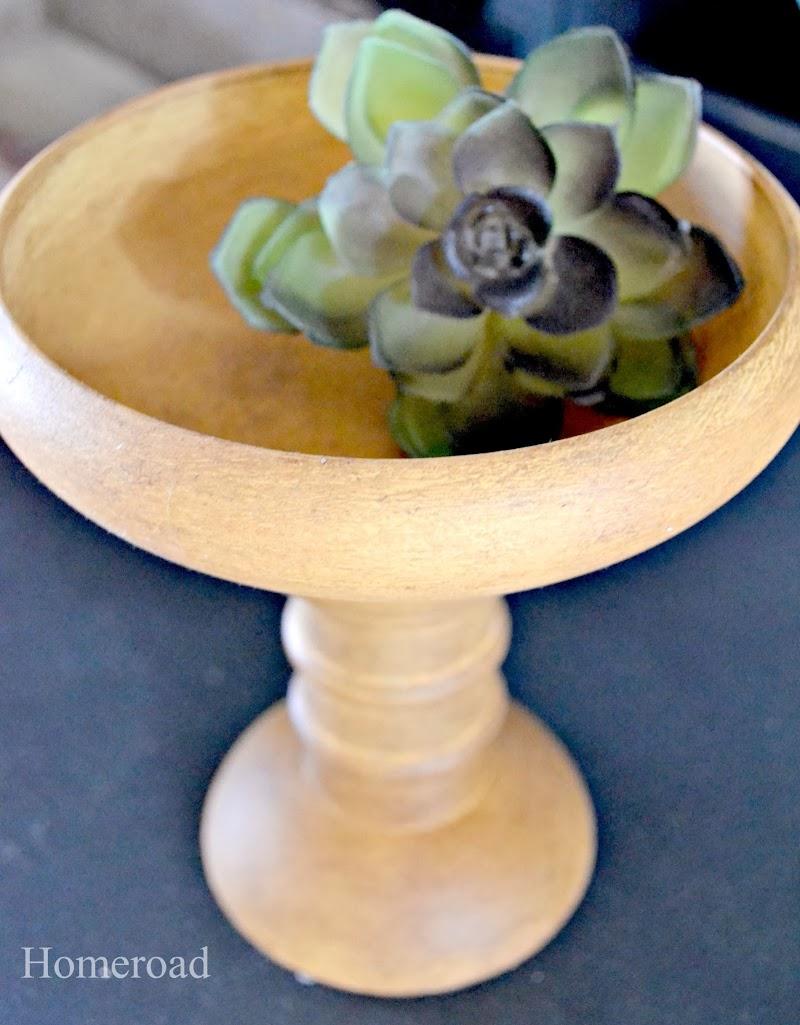 Repurposed Wooden Pedestal Bowls