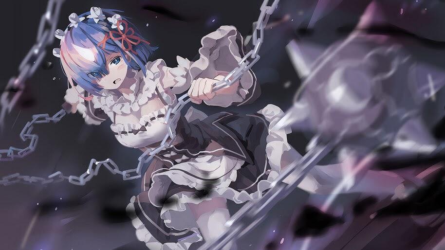 Rem, Morning Star, Re:Zero, Anime, Girl, Maid, 4K, #4.2790