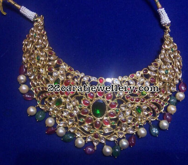 Kundan Choker with Precious Drops