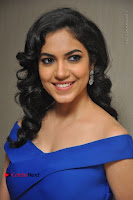 Actress Ritu Varma Pos in Blue Short Dress at Keshava Telugu Movie Audio Launch .COM 0039.jpg