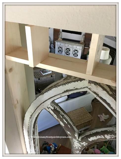Faux Cathedral Arch Window-Transom Window-DIY-Cottage Style-Farmhouse Style-French Country- From My Front Porch To Yours