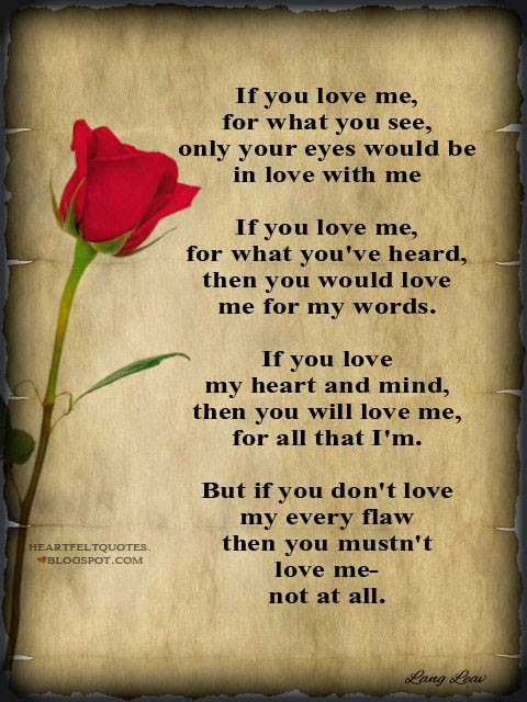 If You Love Me Heartfelt Love And Life Quotes