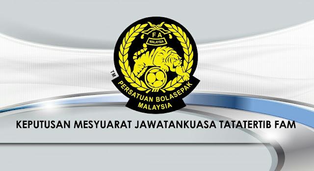 FAM Denda Pahang Tidak Boleh Mohon Lesen AFC 2 Tahun