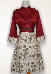 model Dress baju batik Kerja terbaru