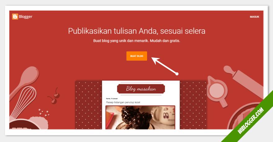 langkah langakah membuat blog baru