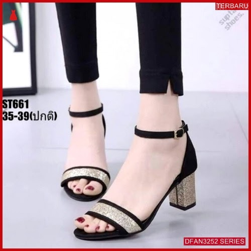 DFAN3252S27 Sepatu Ak 25 Hak Wanita Tahu Sol BMGShop