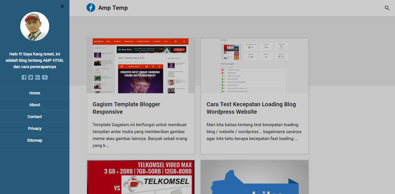 Template AMP Blogger Seo Responsive - Mafsyah Template