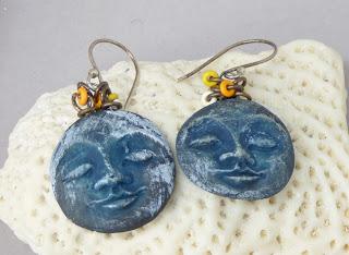 Blue Moon Earrings by BayMoonDesign