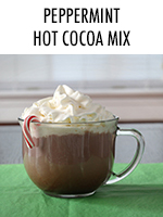 Deliciously minty hot chocolate mix