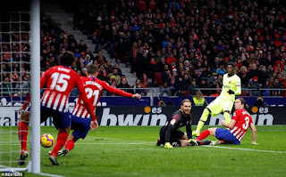 Substitute Ousmane Dembele rescues point to keep Ernesto Valverde's side top despite Diego Costa's header
