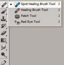 Spot Healing Brush Tool, Healing Brush Tool,Patch Tool, Red Eye Tool (J)