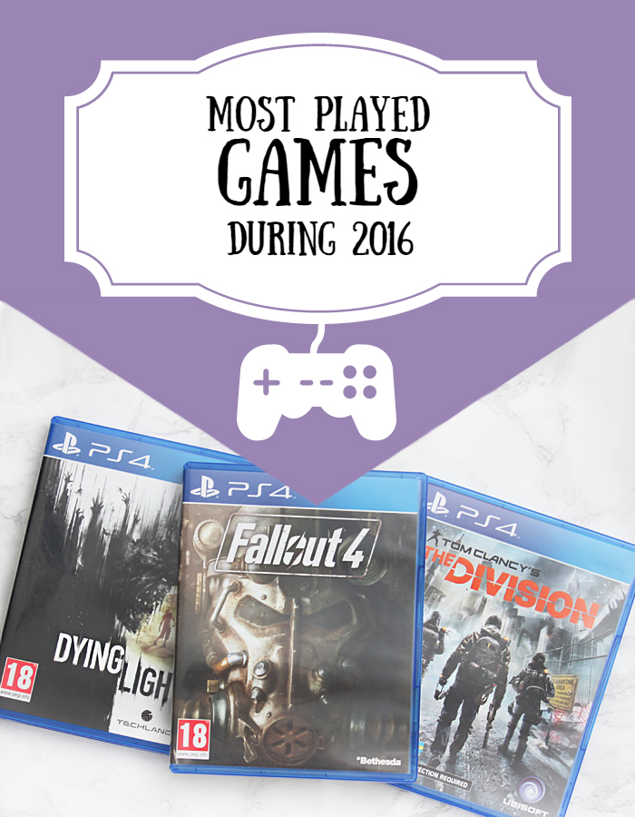 Most Played Games During 2016 #game #gaming #gamer