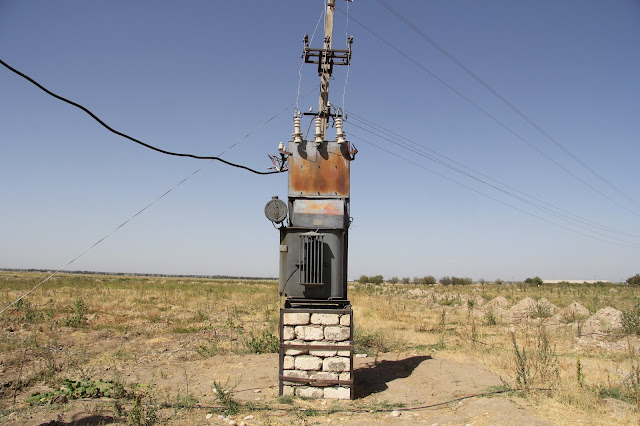Ouzbékistan, Sazagan, transformateur, © L. Gigout, 2012