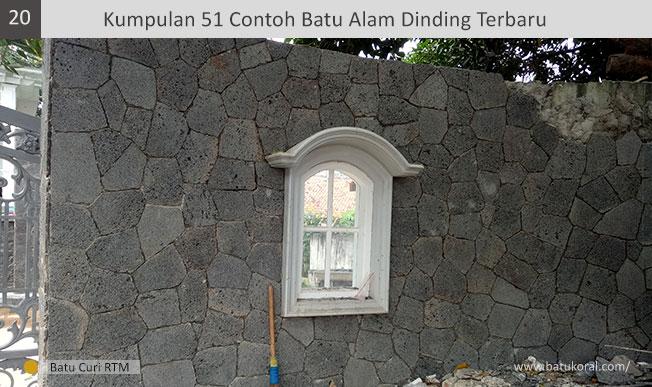 batu alam hitam untuk dinding depan rumah