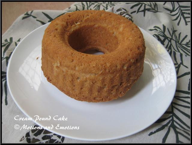 Cream Pound Cake / Fresh Cream Pound Cake / Fresh Cream Bundt Cake