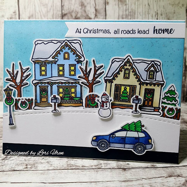 Sunny Studio Stamps: Christmas Home Customer Card Share by Lori Uren