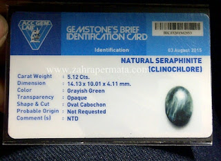 Batu Permata Seraphinite + Memo - ZP 572
