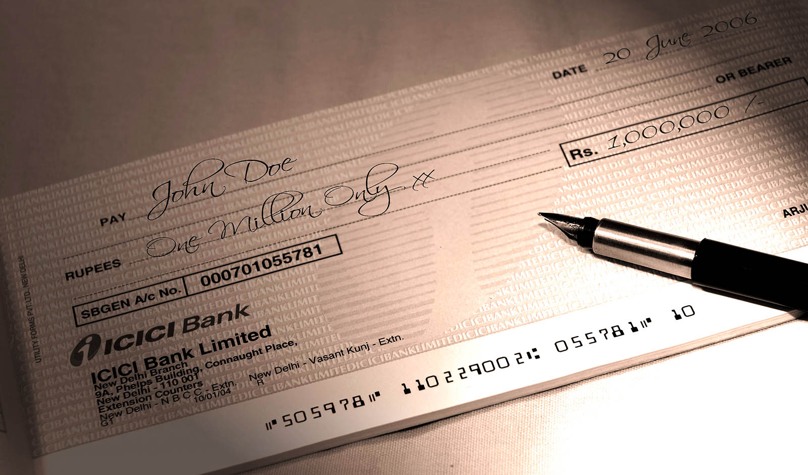 how to make hathway payment by cheque