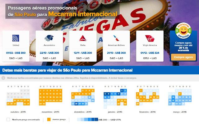 Passagens em promoção para Las Vegas