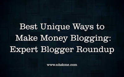 Best Unique Ways to Make Money Blogging in 2018: Expert Blogger Roundup: eAskme