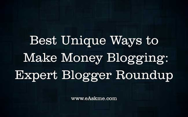 Best Unique Ways to Make Money Blogging in 2021: Expert Blogger Roundup: eAskme