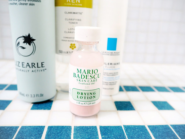 The Skincare Switch-up, liz earle cleanse and polish, ren clarimatte clarifying toner, la roche posay toleriane fluide, mario badescu drying lotion, skincare, review