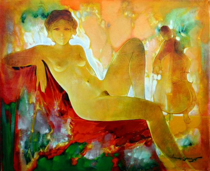 Claude Sauzet 1941 | French Figurative painter