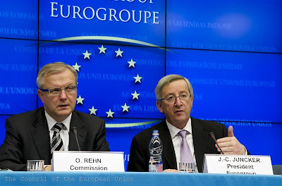 Olli Rehn Commission, Jean-Claude Juncker Eurogroup - ESM EFSF