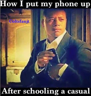 how I put my phone up after schooling a casual