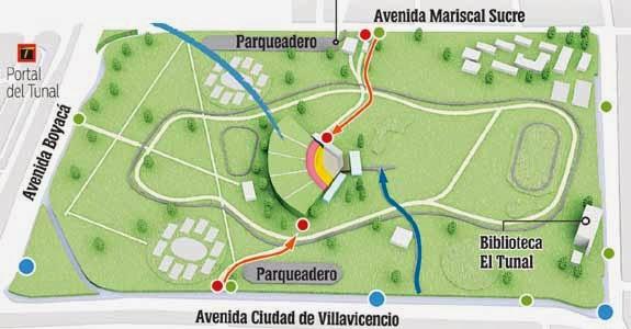 Parque Metropolitano El Tunal - Mapa