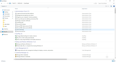 Cara mengaktifkan Windows God Mode