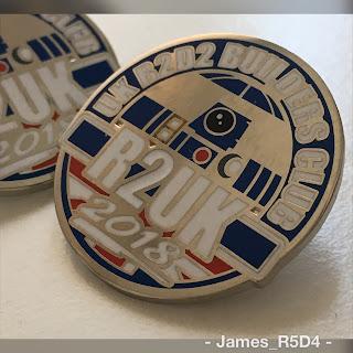 UK R2D2 Builder Club pin badges