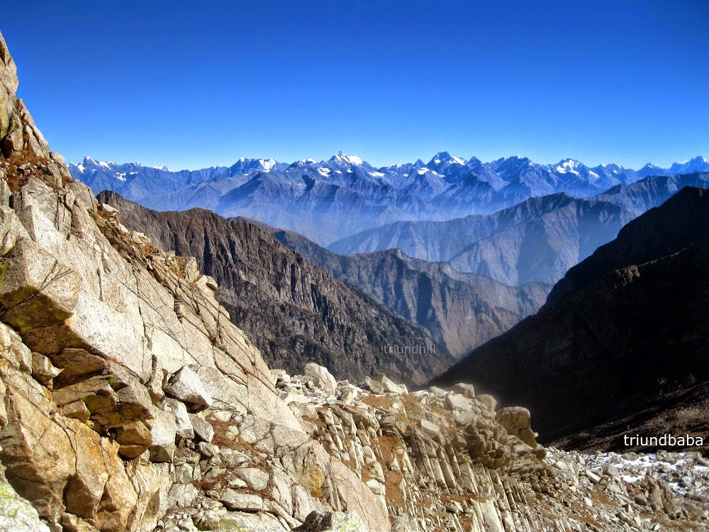 Pir Panjal Range and ManiMahesh Kailash Peak Chamb