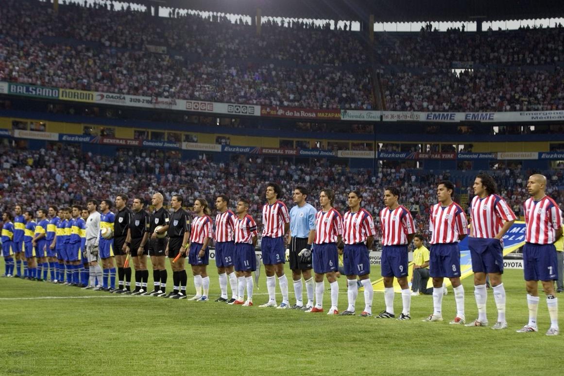 Chivas contra Boca en la Libertadores.