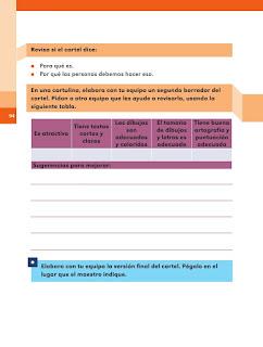 Apoyo Primaria Español 2do grado Bloque 2 lección 16 Hagamos un cartel