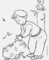 Jocuri Pentru Copii Mari şi Mici Copii Toamna Fise De Colorat